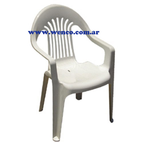 M002 sillas plasticas reforzadas wenco palermo wenco s a for Sillas plasticas plegables