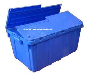 Cajas plasticas con tapa apilables