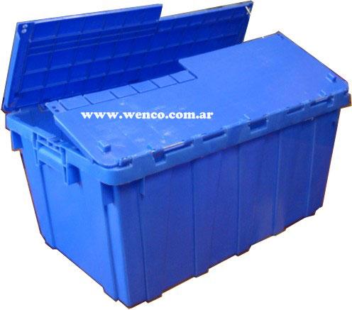 c001 cajas de plastico con tapa fp 24 690 x 430 x 322 mm